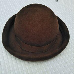 Vintage Burberry hat brown wool Burberrys London